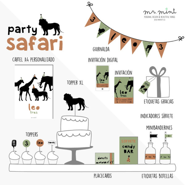 Presentacion fiesta cumple personalizada safari