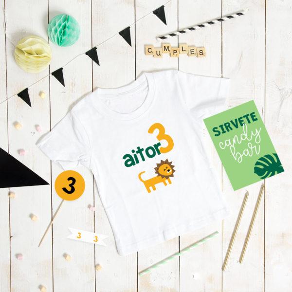 camiseta cumple personalizada MrMint animalitos
