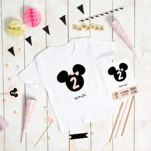 camiseta cumple personalizada MrMint ratoncita