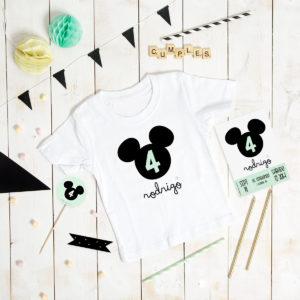 camiseta cumple personalizada MrMint ratoncito