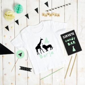 camiseta cumple personalizada MrMint safari