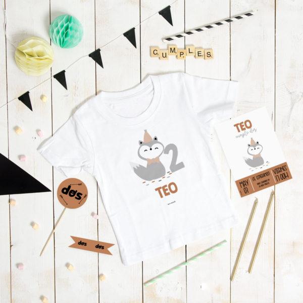 camiseta cumple personalizada MrMint zorrito