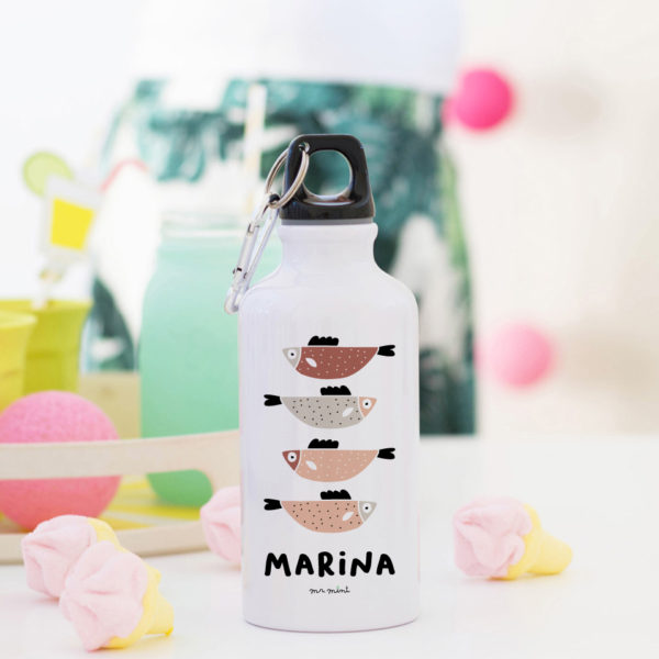 Botella fish pescaditos personalizado MrMint