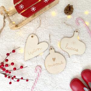 bolas navidad madera personalizadas