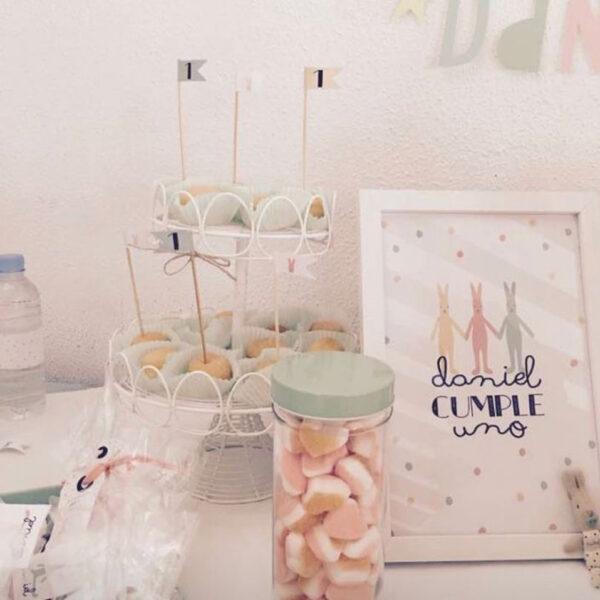 candy conejitos cumple personalizada