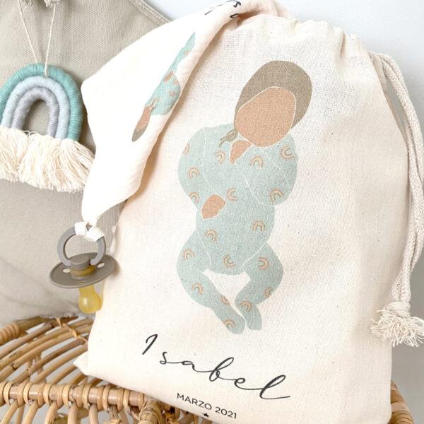 bolsa primera puesta personalizada newborn
