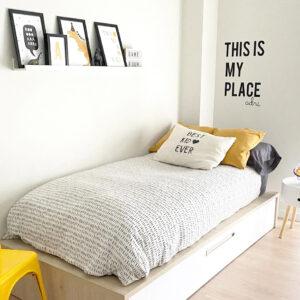Vinilo habitacion My Place personalizado