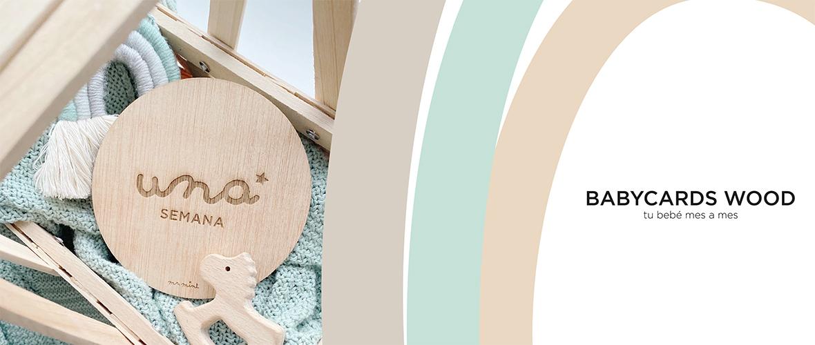 slider tarjetas embarazo madera personalizadas