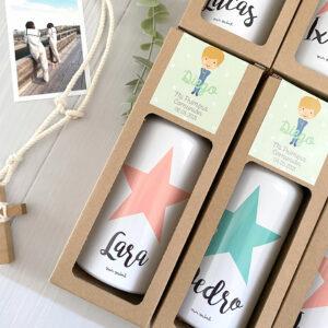 pack botellas comunion personalizadas regalo invitados Mr.Mint