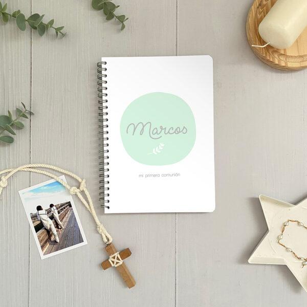 libretas comunion personalizadas invitados Mr.Mint