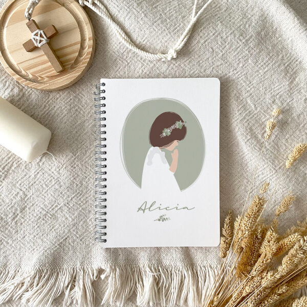 libretas comunion personalizadas regalo invitados Mr.Mint
