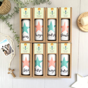 pack botellas comunion personalizadas regalo invitados Mr.Mint