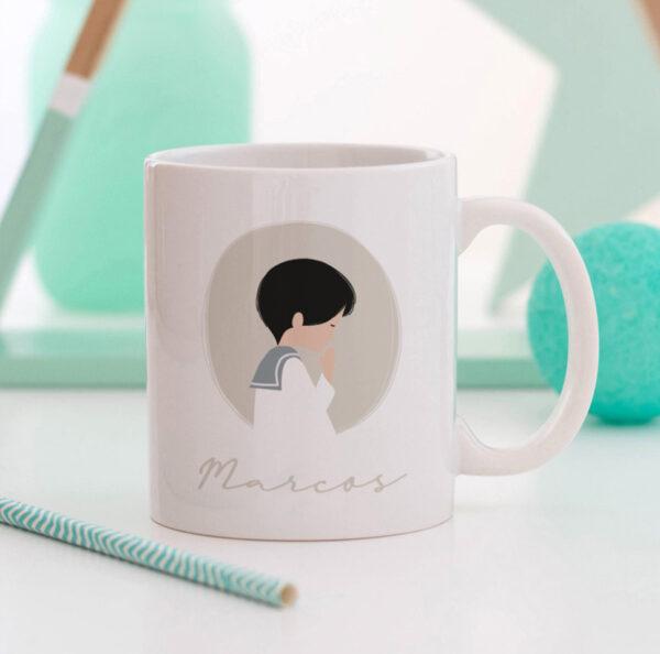 tazas comunion personalizadas regalo invitados Mr.Mint