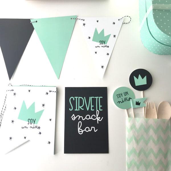 papeleria babyshower personalizada Mrmint