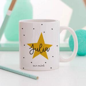 taza comunion estrella personalizada