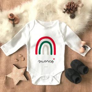 Body bebe Arcoiris Navidad Personalizado Mrmint
