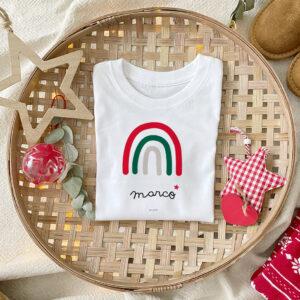 Camiseta Arcoiris Navidad Personalizado Mrmint
