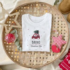 Camiseta Coche Papa Noel Navidad Personalizado Mrmint