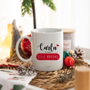 Taza Navidad personalizada Feliz Navidad